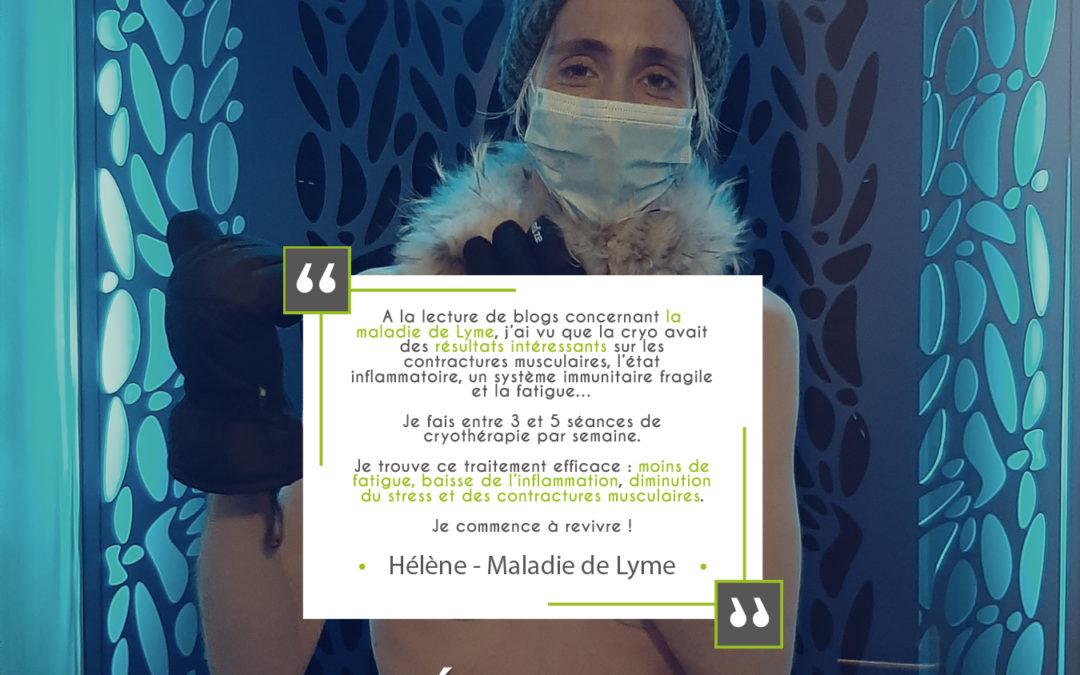 Témoignage d'une cliente sur les bienfaits de la cryothérapie sur la maladie de Lymes